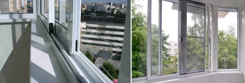 Раздвижные алюминиевые окна в самаре.